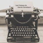 Les poèmes de Carole Devalland